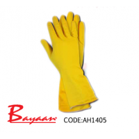Yellow Household Flock Lined Glove