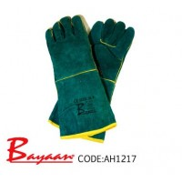 Bayaan - Green Lined Elbow Welding Glove