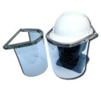 Face Shield Aluminium Cap Attachment 1mm Clear Lens