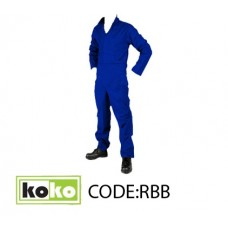 KoKo - Royal Blue Boiler Suit c/w reflectives