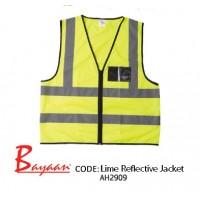 Lime - Reflective Jacket with ID Pocket & Zip