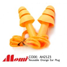 Orange Reusable Corded Ear Plug