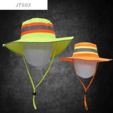 Dromex - Safety Bush Hat Orange with Lime Reflective Strip
